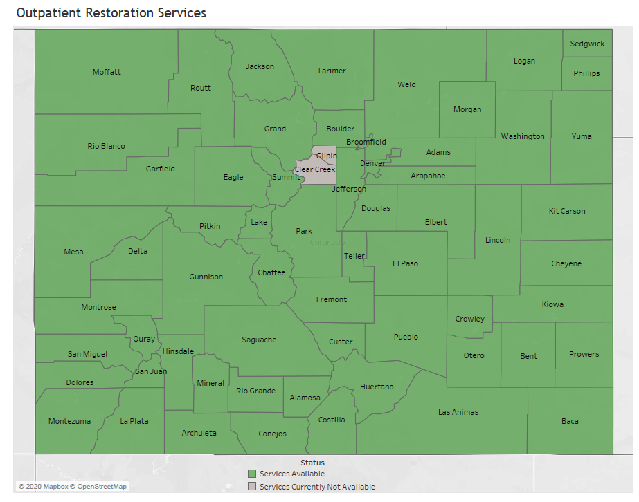 Outpatient Restoration Services Map March 2020